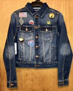 NWT WOMEN'S WRANGLER COTTON BLEND/DENIM TRUCKER JACKET w/APP