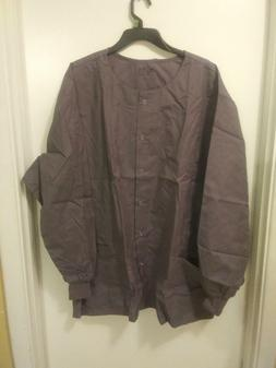 NWT Women's Lydia's Select Snap Front Long Sleeve Scrub Jack