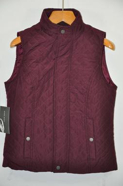 NWT Women's Nine West, Quilted Vest Jacket. Size M -Light We