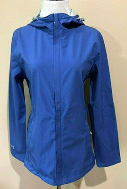 NWT Womens Blue Free Country Packable Rain Jacket Small