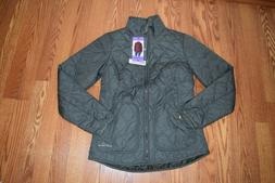 NWT Womens EDDIE BAUER Capers Olive Mod Quilted Jacket Coat