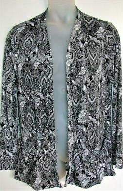 NWT Womens MADE BY JOHNNY Career PAISLEY Open Style Cardigan