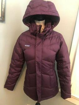 NWT Patagonia Women's Down With It Parka Jacket Deep Plum