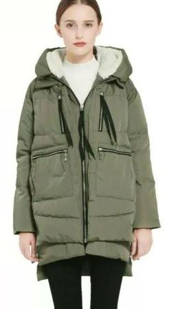NWT Orolay Womens Jacket Green Size M Thickened Down Full-Zi