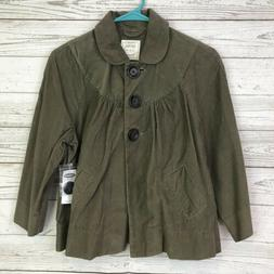 Old Navy NWT womens jacket Small brown light corduroy stretc
