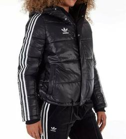 originals black white womens padded hooded jacket