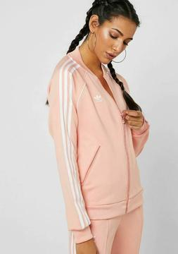 adidas Originals Women's Super Star Track Jacket Dust Pink D
