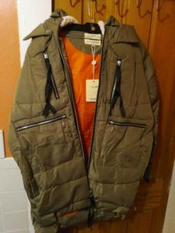 Orolay Women's thickened Down Jacket, Green, Size M