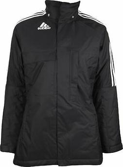 adidas Padded Womens Jacket Black Relaxed Fit Winter Coat Si