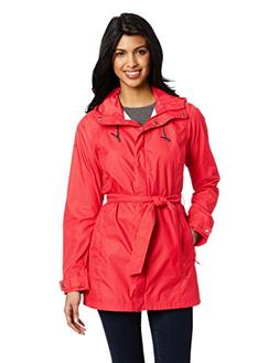 Columbia Women's Pardon My Trench Rain Jacket, Red Hibiscus,