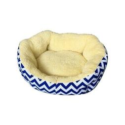ALEKO PB18YB Plus Round Dog Pet Bed with Extra Tall Sides 18