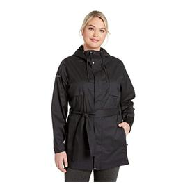 Columbia Plus Size Pardon My Trench Rain Jacket Black Size 2