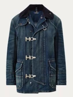 Polo By Ralph Lauren Women Denim Fireman's Jacket L