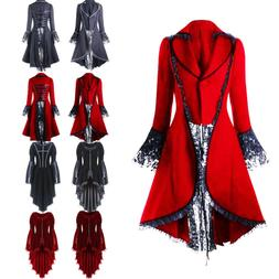 Punk Rave Womens Gothic Dress Coat Jacket Long Brocade Steam