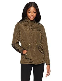 Jason Maxwell Womens Outerwear Women's Quilted Jacket, Olive