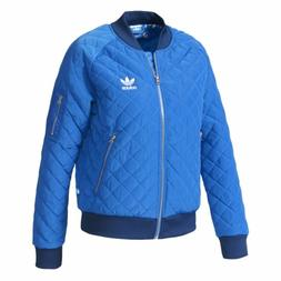 NEW ADIDAS ORIGINALS WOMEN'S QUILTED TREFOIL TRACK JACKET  ~