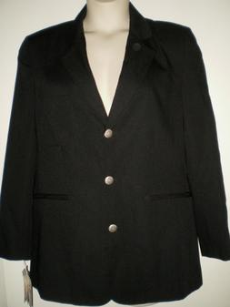 Wrangler RIATA For Women WESTERN BLAZER JACKET 6 Black COWGI