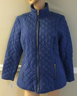 Charter Club Rich Cerulean Quilted Jacket Size XL NWT
