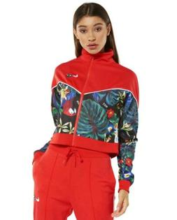S WOMENS Nike Sportswear Floral Track Jacket RED flowers AQ9
