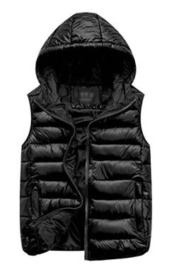 ZSHOW Women's Winter Padded Vest Removable Hooded Outwear Ja