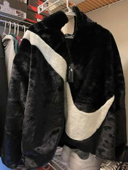 Nike Sportswear Plush Faux Fur Jacket Women's Size Large B