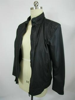 Stylish Black Rivet Wilsons Leather Zip-UP Front Biker Jacke