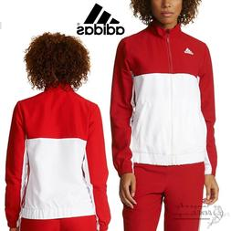 adidas Team T16 Women's Red Track Jacket Climalite Full Zip