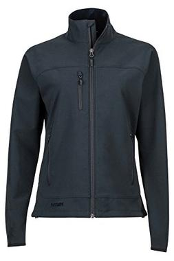 Marmot Tempo Women's Softshell Jacket, Jet Black, Small
