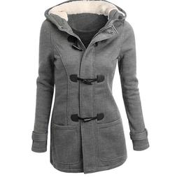 Thicken Hooded Warm Coat Jacket Trench Outwear Winter Long P