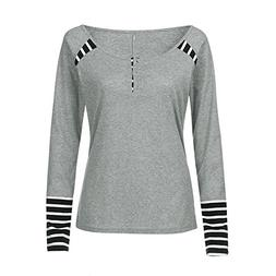 Women Tops, Gillberry Womens O Neck Fight Color Long Sleeve