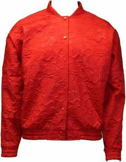 adidas Track Jacket  Casual   Outerwear Red Womens - Size S