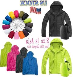 Travel Windproof Jacket Men Women Lightweight Outdoor Bicycl
