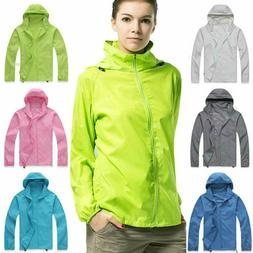 Unisex Women Men Hiking Windproof Jacket Quick Dry Rain Coat