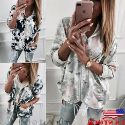 US Women's Fashion Zipper Open Hoodie Sweatshirt Long Coat J