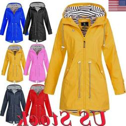 US Women Winter Warm Wind Jacket Waterproof Raincoat Outdoor