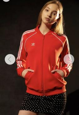 adidas V-Day SST Track Jacket Women's  Red Size SMALL