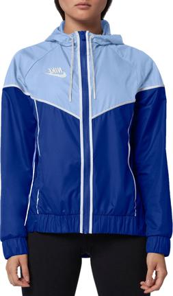 windrunner jacket women size small blue nwt