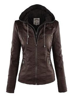 wjc663 womens removable hoodie motorcyle jacket xl
