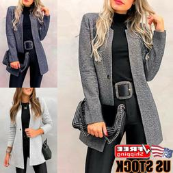 Women Casual Slim Blazer Suit Coat Jacket Ladies Long Sleeve