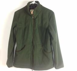 Barbour Women Dunmoor Fleece Jacket Range Olive Size 14 Spor