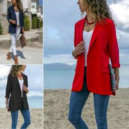 women elegant fashion slim casual business blazer