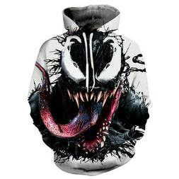 Women/Men Hoodies 3D Print Venom Face Sweatshirts Sweater Ja