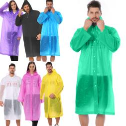 Women/Men Waterproof Jacket Clear PE Raincoat Rain Coat Hood