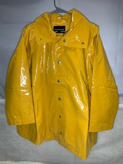 Who What Wear Women Plus Size Rain Anorak Jacket, Yellow, 2X