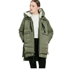 Women's Brand New, Orolay Thickened Down Jacket, Green