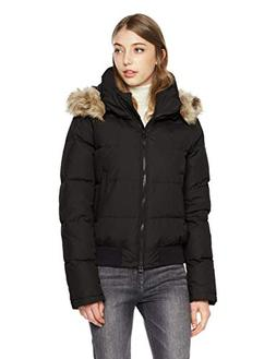 Royal Matrix Women's Classic Bomber Short Down Jacket with R
