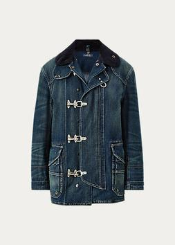POLO RALPH LAUREN Women's Denim Toggle Fireman's Jacket Size