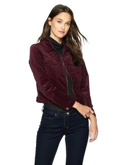 Calvin Klein Women's Denim Trucker Jacket, Classic Plum, M