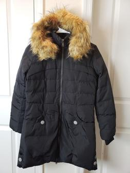 Orolay Women's Down Jacket with Faux Fur Trim Hood SIZE XS,