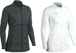 Nike Women's Dri-Fit Dry Full Zip Womens Golf Jacket White o